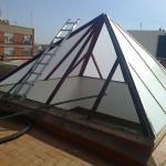 Lucernario piramidal