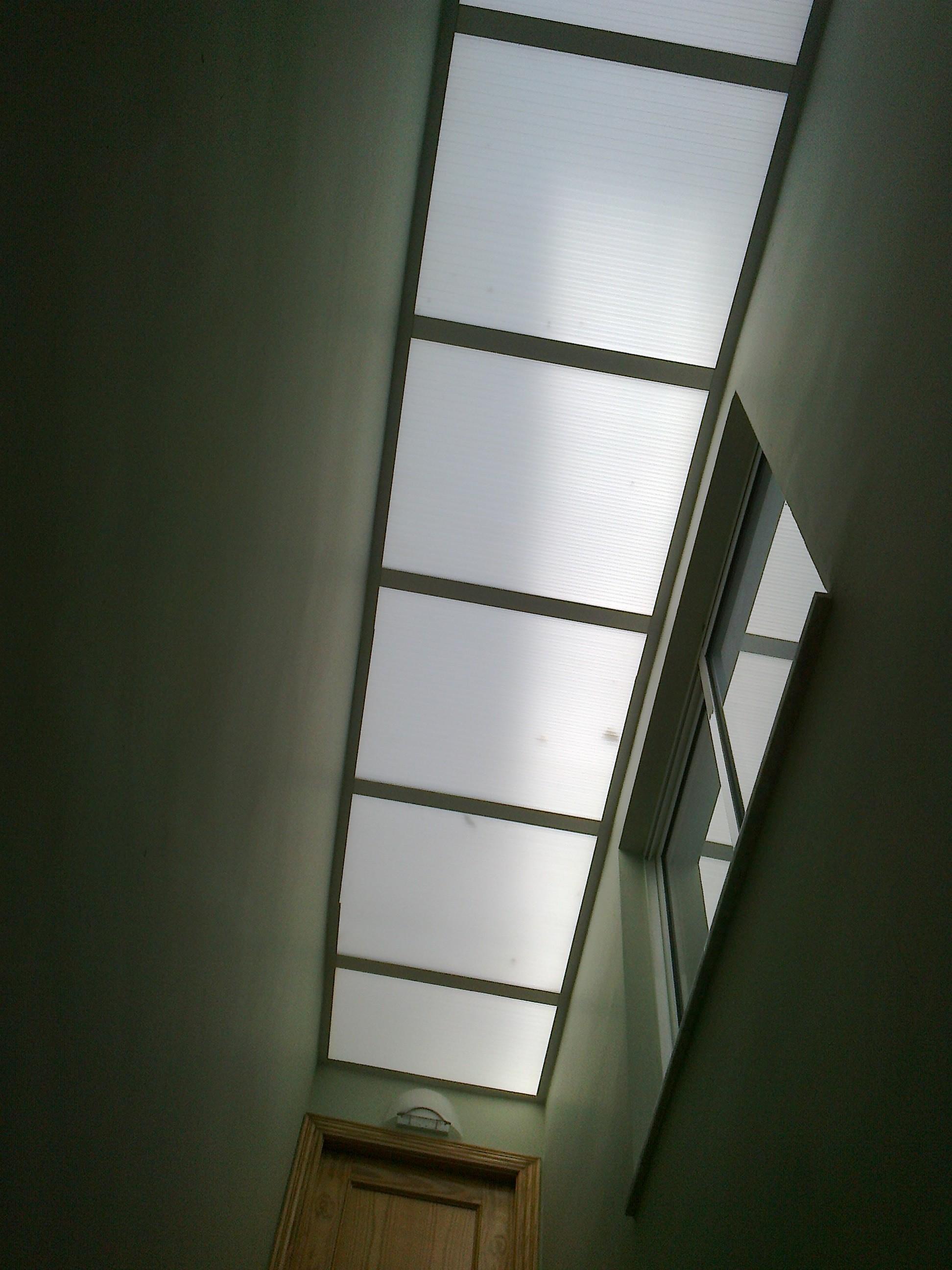Lucernario en hueco de escalera