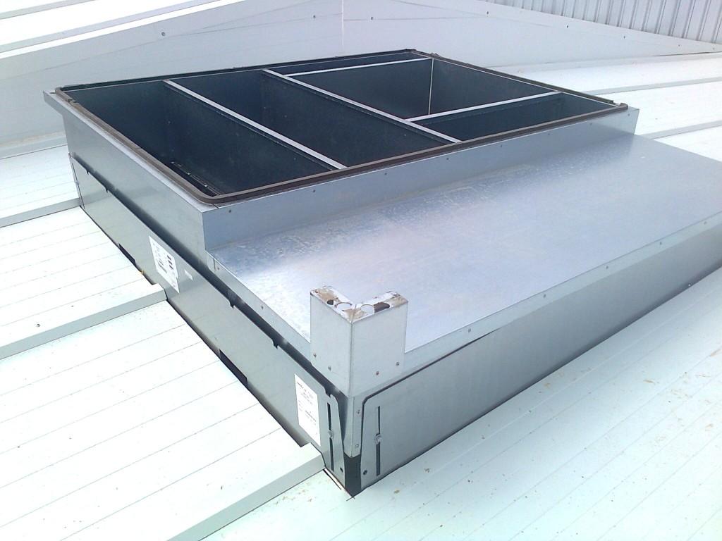 Instalación de ventilación mecánica en cubierta