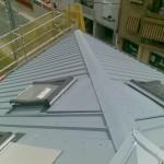 Cubierta chapa simple en edificio