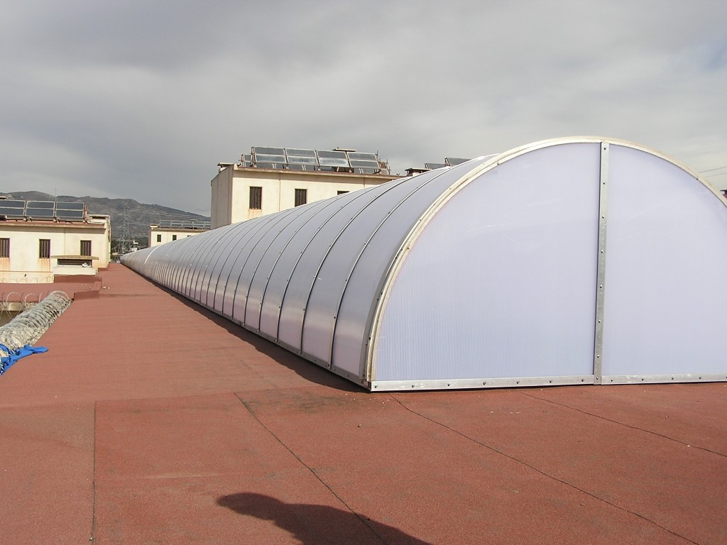 Lucernario bóveda de cañón