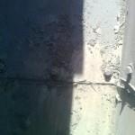 Solape de canal deteriorado